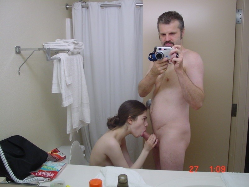 First time shower with naked dad