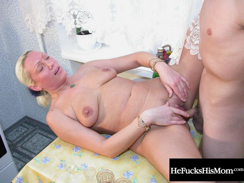 Horny mom fucks son